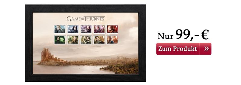 Game of Thrones Briefmarken gerahmt