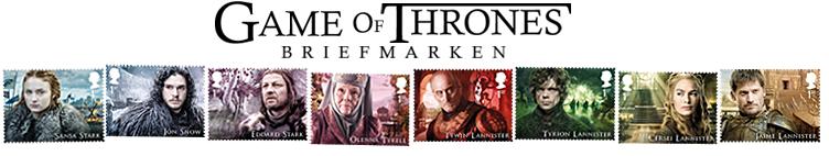 Die Game of Thrones-Briefmarken