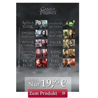 Game of Thrones Briefmarken Kleinbogen
