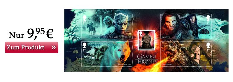 Game of Thrones Briefmarken Miniblock