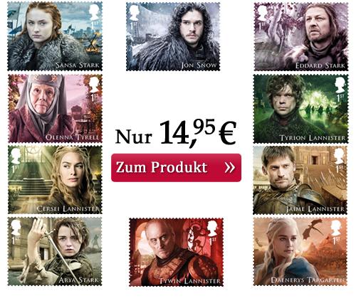 Die Game of Thrones-Briefmarken einzeln